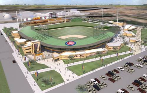 Chicago Cubs Preliminary Mesa Ballpark Rendering