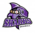 Sharks Baseball Logo http://ballparkbiz.wordpress.com/2012/05/18/railcats-boomers-owner-becomes-partner-in-marthas-vineyard-franchise/
