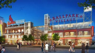 St. Louis Cardinals Ballpark Village Rendering