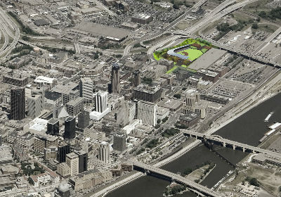 St. Paul Saints Ballpark Aerial Rendering