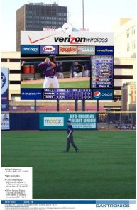 Akron Aeros Video Board 3