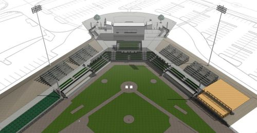 Harry & David Field Rendering, Medford Rogues Facebook Photo courtesy of Batzer Construction