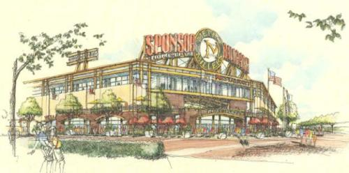 Rendering of proposed Metro Millers stadium in Burnsville courtesy of DJR Architecture