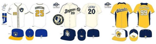 Milwaukee Brewers Uniform Contest Top 3