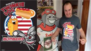Battle Creek Bombers Twinkie Dog T-Shirts