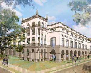 Rendering of proposed ballpark for Rollins College and affiliated club - ACi Architects Inc.
