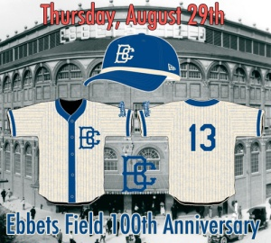 The Cyclones will wear these jersey on-field, inspired by the Brooklyn jerseys worn in 1913