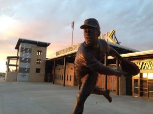 Bob Gibson Statue, Omaha Storm Chaser Facebook Photo