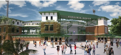 Virginia Beach Professional Baseball Rendering 2