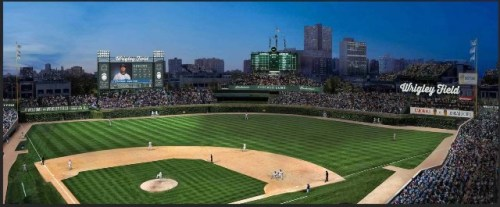 Chicago Cubs Wrigley Field Rendering