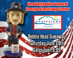 Hagerstown Suns General Custer Bobblehead Giveaway