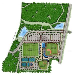 Holly Springs sports complex rendering by Withers & Ravenel