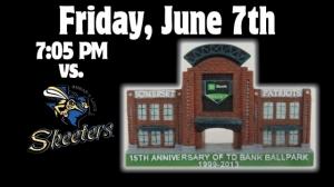 Somerset Patriots Ballpark 15th Anniversary June 7