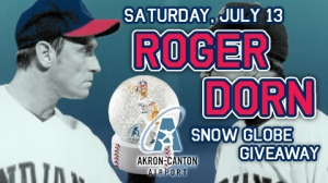Akron Aeros Salute Roger Down with Snow Globe