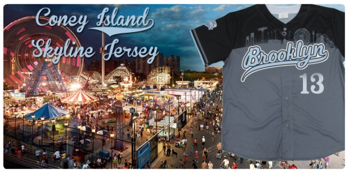 Brooklyn Cyclones Coney Island Skyline Jersey
