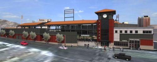 El Paso Ballpark Rendering 1