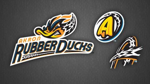 Akron RubberDucks Logos
