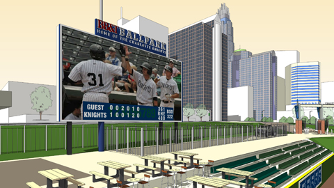 Charlotte Knights Widest Videoboard