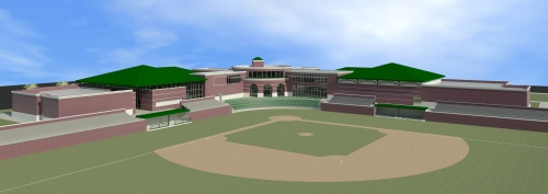 National College Baseball Hall of Fame Lubbock Rendering