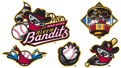 Quad Cities River Bandits New Logo Set