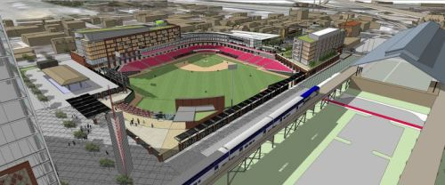 Richmond Flying Squirrels Shockoe Bottom Rendering