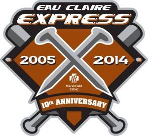 Eau Claire Express 10th Anniversary Logo