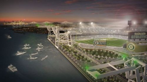 Oakland As Port of Oakland Ballpark Rendering