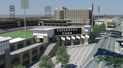 Biloxi Ballpark Rendering, Dale Partners Architects