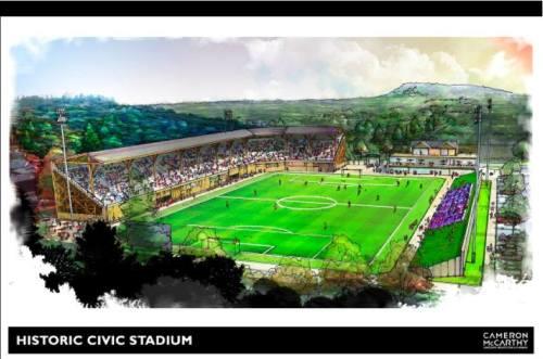 Civic Stadium Soccer Rendering