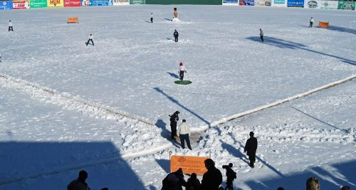 Ice Bowl Game at Midway Stadium, St. Paul Saints Facebook photo
