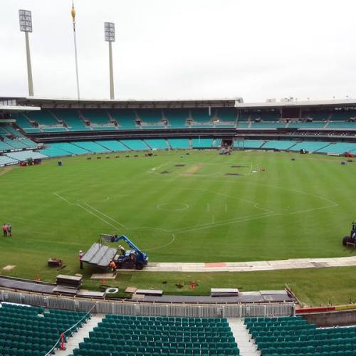 Preparing Sydney Cricket Ground for Opening Series, MLB Facebook photo