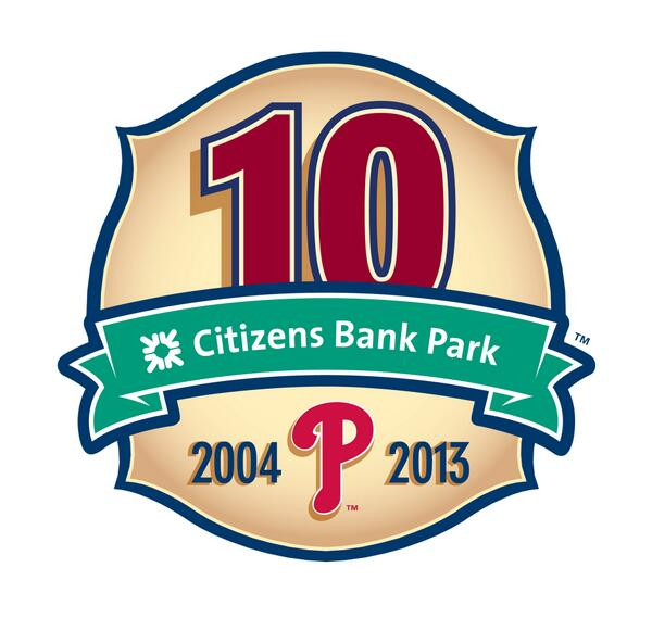 Philadelphia Phillies CBP 10th Anniversary Logo