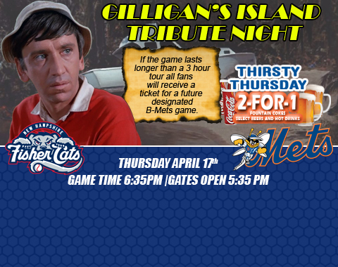 Binghamton Mets Gilligans Island Tribute Night