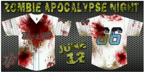 Inland Empire 66ers Zombie Apocalypse Night Jerseys
