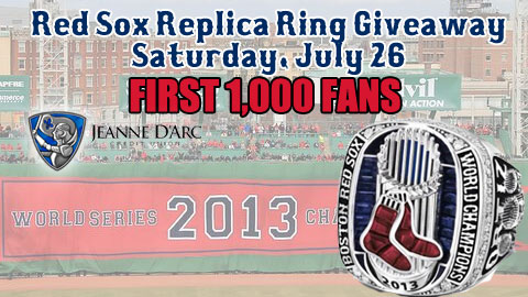 Lowell Spinners Replica Red Sox World Series Rings