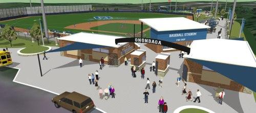 Onondago Community College baseball stadium rendering, Apel Osborne Landscape Architecture