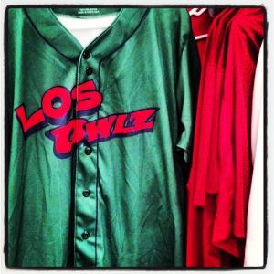 Los Owlz jersey from July 2013, Orem Owlz Facebook page
