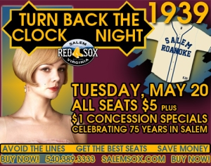 Salem Red Sox 75th Turn Back the Clock