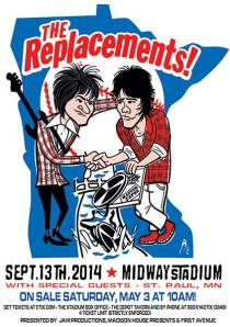 The Replacements at Midway Stadium Poster 9.13.14