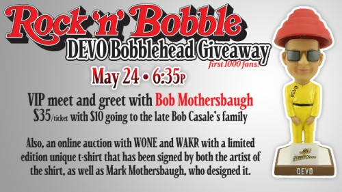 Akron RubberDucks DEVO Bobblehead and Meet and Geet