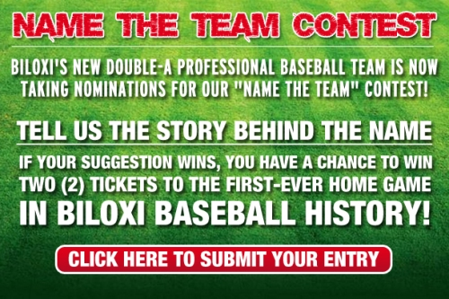 Biloxi Baseball Name the Team Contest