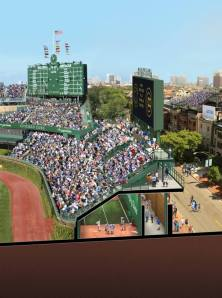 Wrigley Field renovation rendering, Chicago Cubs Facebook page