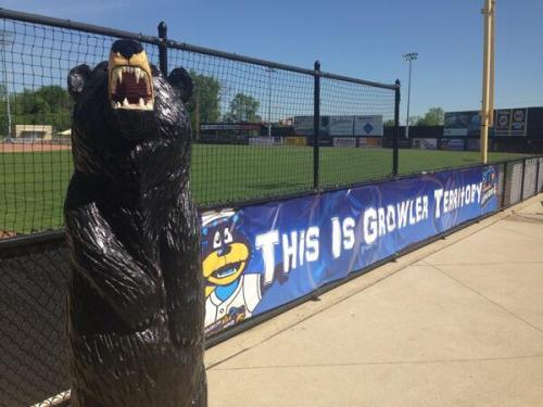 Inaugural Opening Day, Kalamazoo Growlers Twitter photo