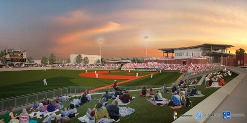 Kokomo Baseball Stadium Rendering 2