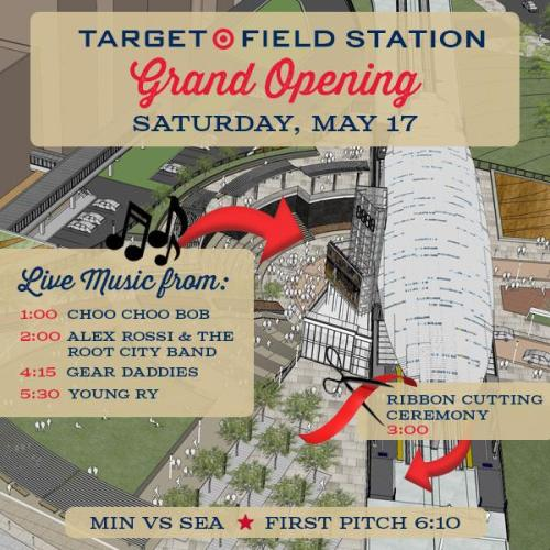 Minnesota Twins Target Field Station Grand Opening
