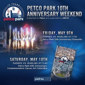 San Diego Padres Petco Park 10th Anniversary Celebration 5.10.14