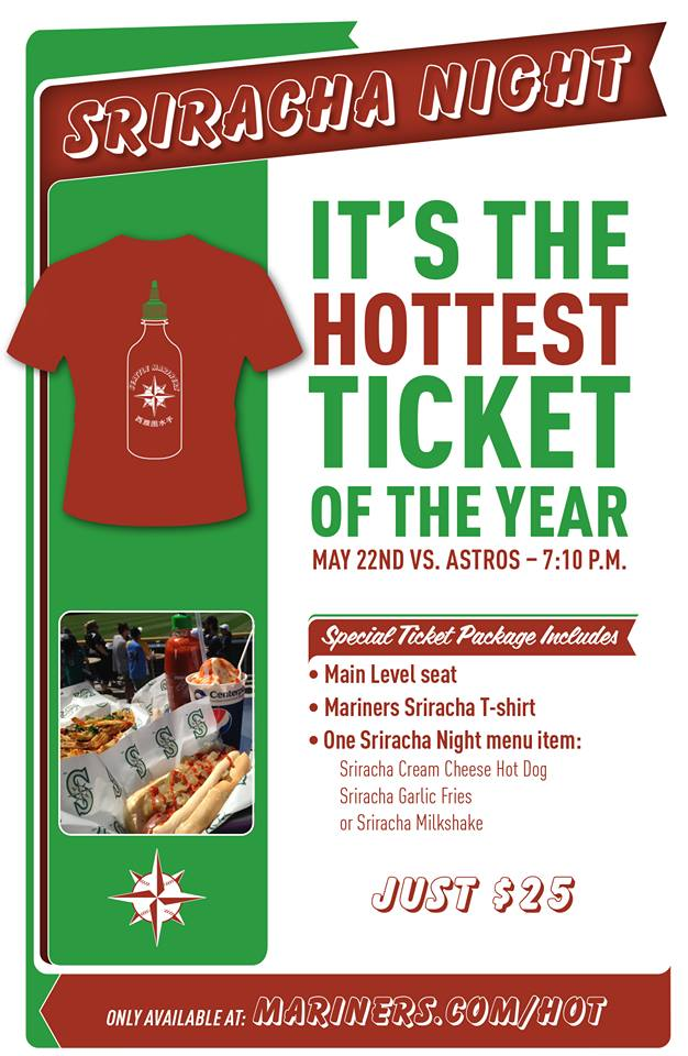 Seattle Mariners Sriracha Night from Facebook