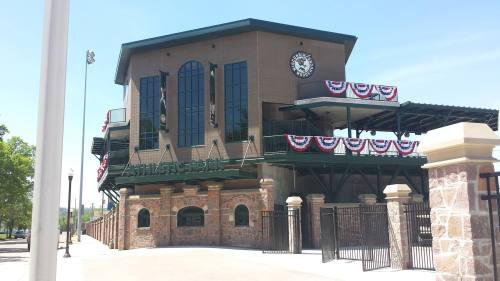Athletic Park renovations by Pendulum on Opening Day, Wisconsin Woodchucks Facebook photo