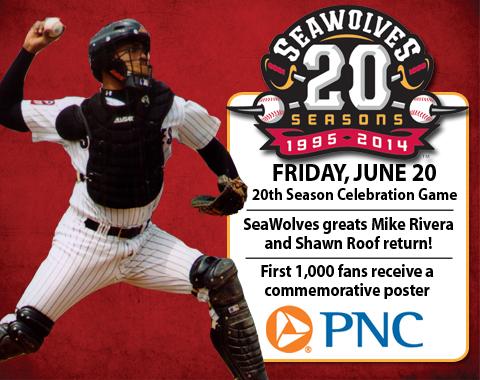 Erie SeaWolves 20th Anniversary