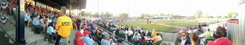 Inaugural home opener at renovated Simmons Field, Kenosha Kingfish Facebook photo